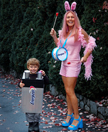 Energizer Bunny & Battery Homemade Costume