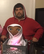 E.T. and Elliott Homemade Costume