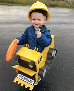 Ethan the Little Bulldozer Homemade Costume