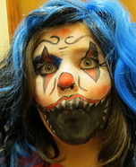 Evil Clown Child Homemade Costume