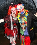 Evil Clowns Couple Homemade Costume