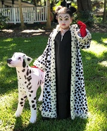 Evil Cruella Homemade Costume