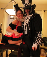 Evil Mad Hatter & Queen of Hearts Costume