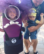 Evil Minion and Yellow Minion Homemade Costume