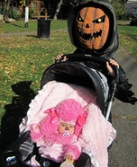 Evil Pumpkin and Pink Poodle Halloween Costumes