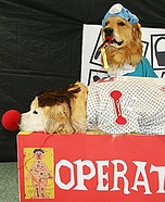 Creative costume ideas for dogs: Game of Operation Costumes