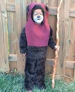 Homemade Ewok Costume