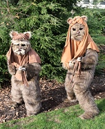 Ewok Brothers Homemade Costume