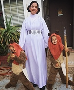 Ewoks and Princess Leia Homemade Costume