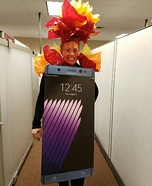 Exploding Galaxy Note 7 Homemade Costume