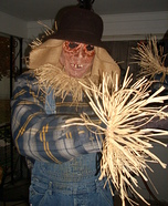 Eyeless the Scary Scarecrow Homemade Costume