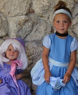 Fairy Godmother and Cinderella Homemade Costume