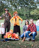 Fall Camping Family Homemade Costume