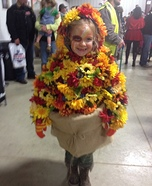 Fall Flower Pot Homemade Costume