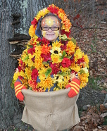 Fall Flowers Homemade Costume