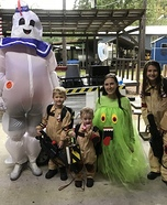 Family Ghostbusters Homemade Costume