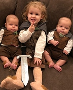 Family of Hobbits Homemade Costume