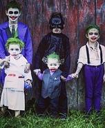 Family of Jokers and the Dark Knight Homemade Costume