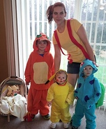 Family of Pokemon Homemade Costume
