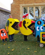Fun family Halloween costume ideas - Family Pac Man Homemade Costume