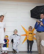 Family Weather System Homemade Costume