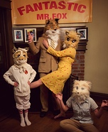 Fantastic Mr Fox Family Homemade Costume