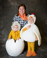 Farmer and Chicks Homemade Costume