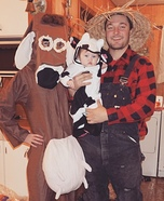 Farmer and his Girls Homemade Costume