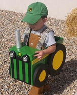 Farmer and his Tractor Homemade Costume