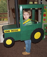 Farmer in a John Deere Tractor Homemade Costume
