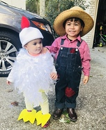 Farmer & His Chick Homemade Costume