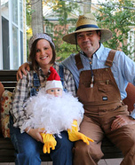 Farmers and Baby Chick Homemade Costume