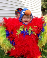 Feathery Fluffy Parrot Homemade Baby Costume