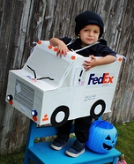 FedEx Delivery Driver Homemade Costume