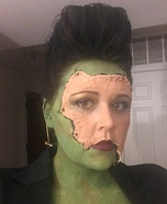 Female Frankenstein's Monster Homemade Costume