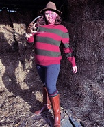 Female Freddy Krueger Homemade Costume
