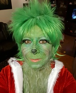 Female Grinch Homemade Costume