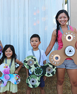 Fidget Spinners Family Homemade Costume
