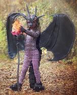 Fierce fiery Dragon Homemade Costume