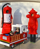 Fun family Halloween costume ideas - Fight Fire Family Costume