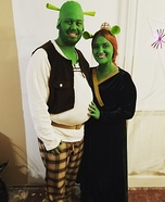 Fiona and Shrek Homemade Costume