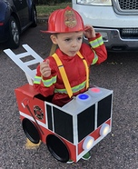 Fire Truck Homemade Costume