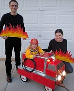 Fire Truck Family Halloween Costume