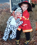Firefighter and Dalmatian Homemade Costume