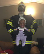 Firefighter saving Baby Homemade Costume