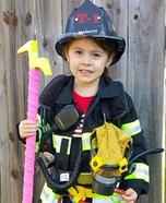Firefighter Truckie Homemade Costume