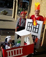 Firehouse Family Homemade Costume