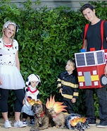 Fireman Family Homemade Costume