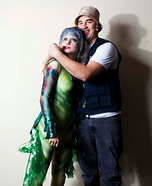 Fish and Fisherman Couple Costume