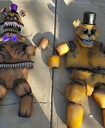 Five Nights at Freddy's and Nightmare Fred Bear Homemade Costume